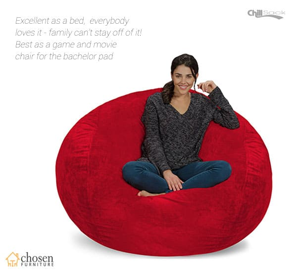 Chill Sack 5 ft Memory Foam Furniture Bean Bag