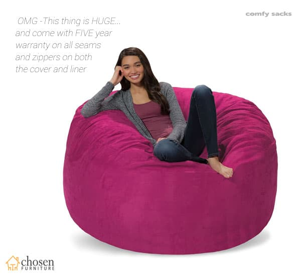Comfy Sacks 5 ft Memory Foam Bean Bag