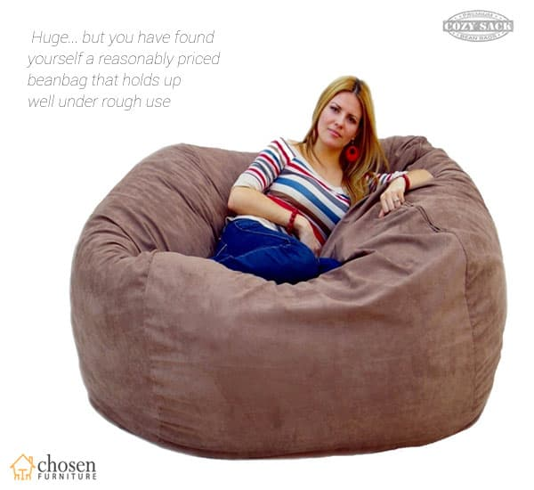 Cozy Sack 5 Foot Large Bean Bag Chair