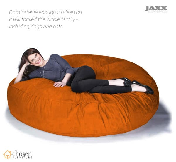 Jaxx 6 Foot Cocoon Large Bean Bag Chair for Adults