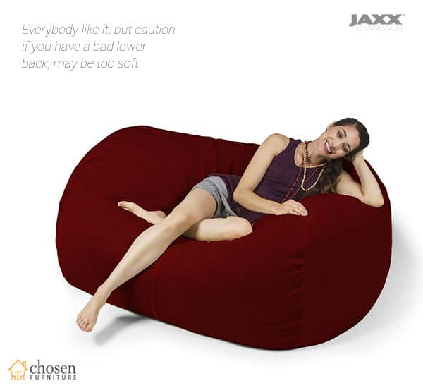 Jaxx 5.5 Foot Bean Bag Loveseat