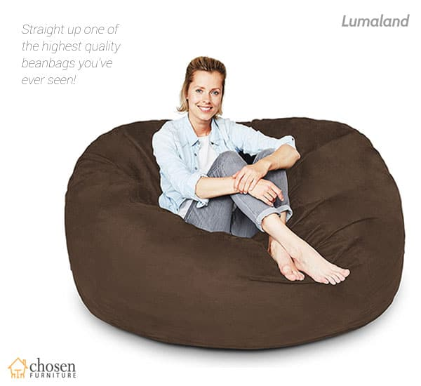 Lumaland Luxury 5 Foot Bean Bag Chair with Microsuede Cover