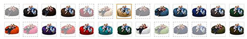 ULTIMATE SACK Foam-Filled Giant Bean Bag Chairs colors