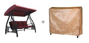 Abba Patio Outdoor Triple Seater Porch Cover