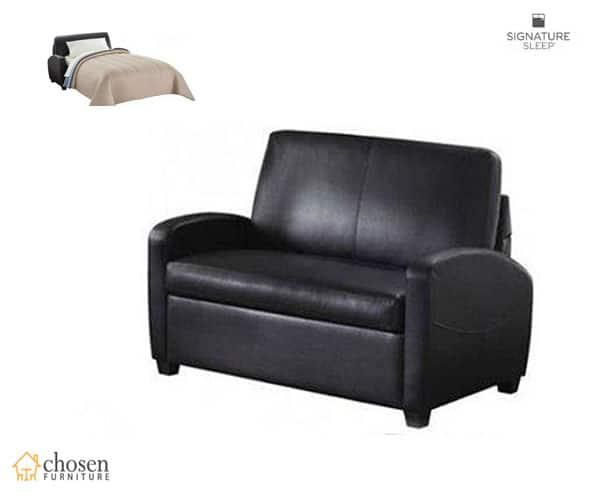 Alex Twin Size Sleeper Sofa Leather Bed
