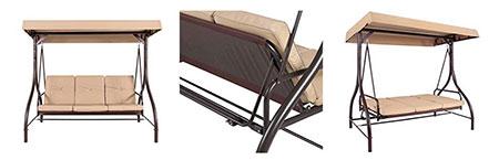 BCP Converting Outdoor Porch Swing Canopy Hammock