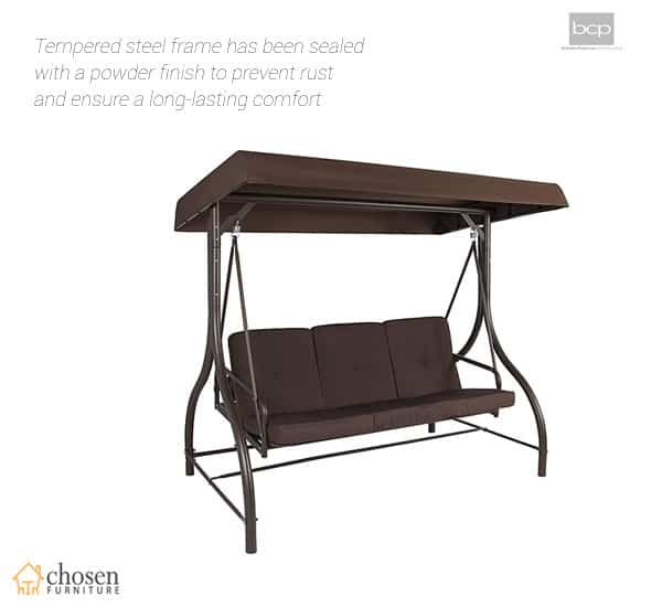 Best Choice Products Converting Outdoor Porch Swing Canopy