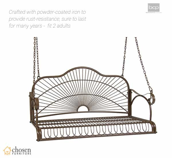 BCP Iron Patio Hanging Porch Swing Chair