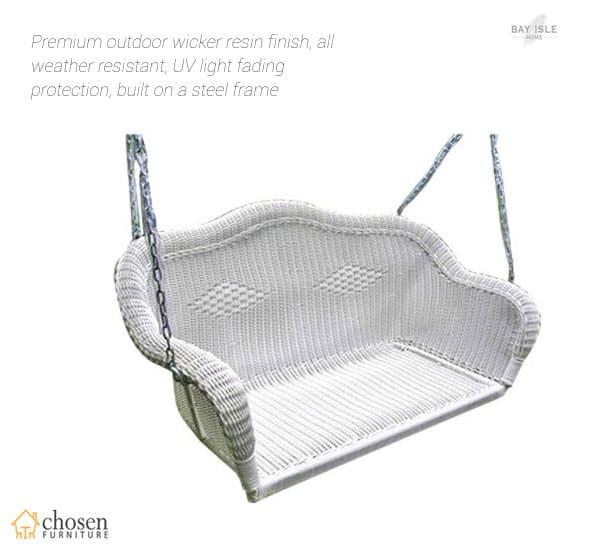 Soucy Premium Outdoor Wicker Resin Porch Swing