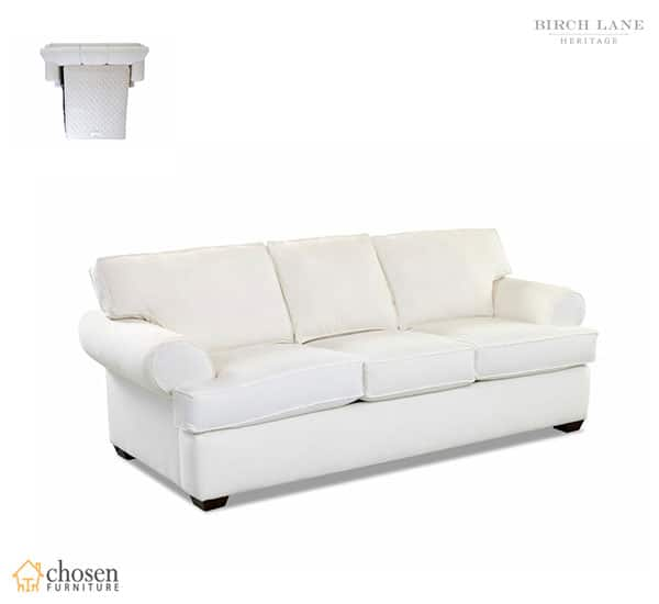 Birch Lane Heritage 89 inches Recessed Arm Sofa Bed