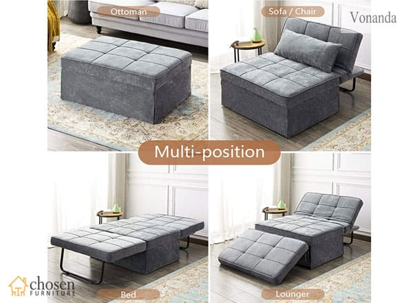 Vonanda Modern Velvet Sleeper Sofa Multi-Position