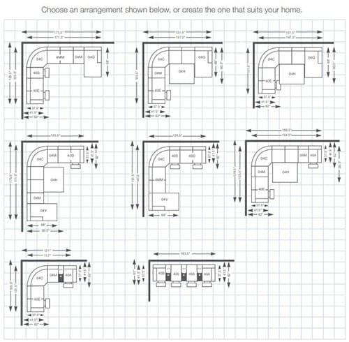 Devon Sectional Sleeper Sofas arrangement