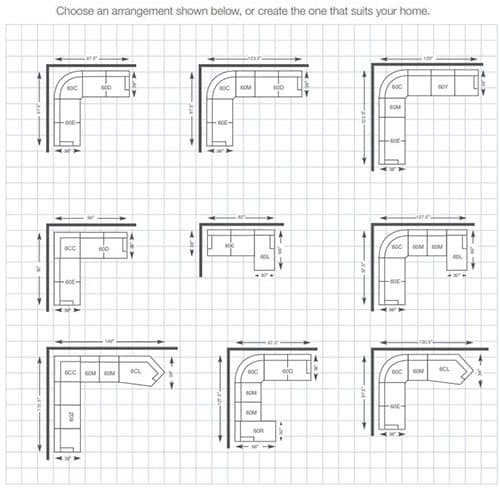 Kennedy Sectional Sleeper Sofas arrangement