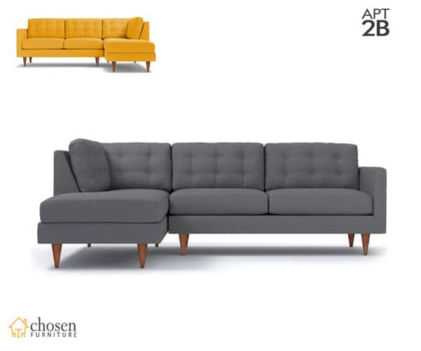 Logan 2-Piece Sectional Sofa Chaise on Right or Left