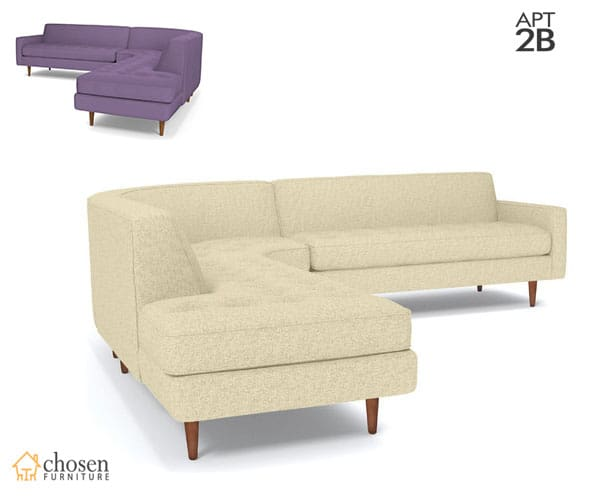Logan 2-Piece Sectional Sofa Chaise on Left