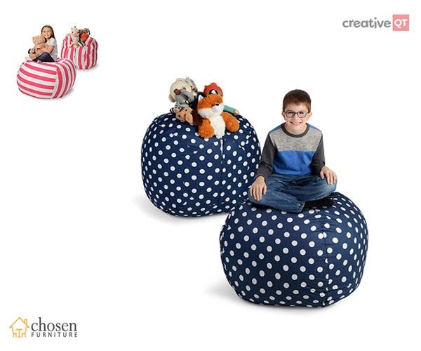 Creative Stuffed Animal Storage Bean Bag Chair