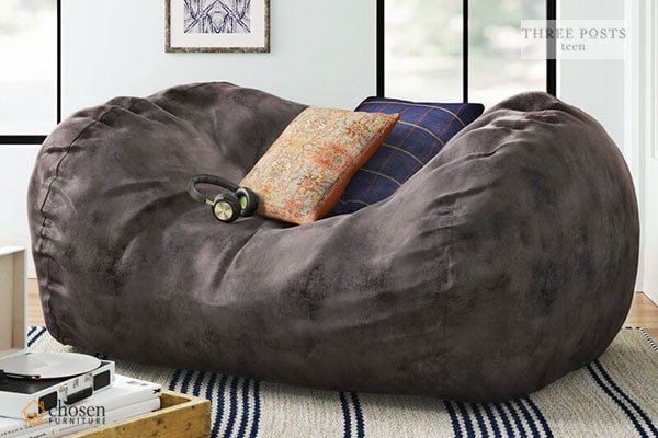 Three Posts Large Bean Bag Sofa
