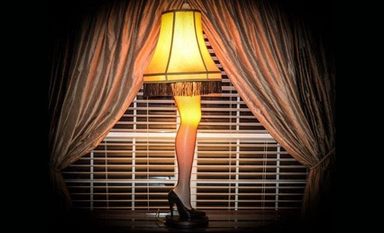 A Christmas Story House Full Size Leg Lamp decor