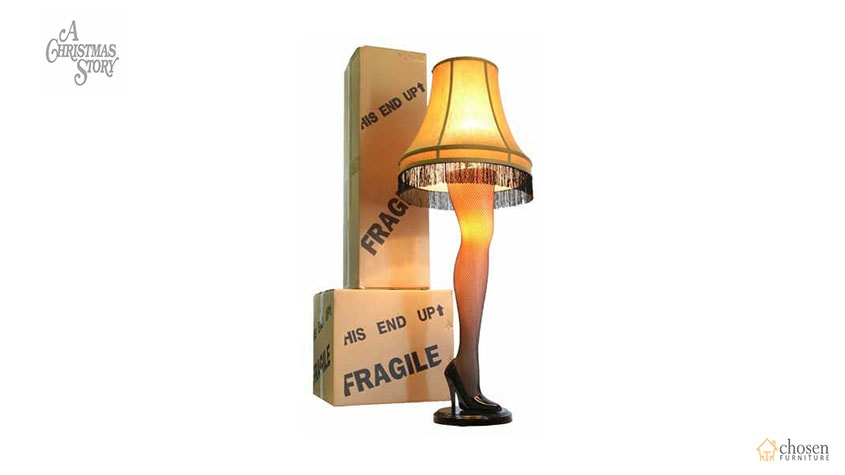 A Christmas Story House Full Size Leg Lamp package