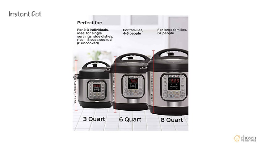 Instant Pot Duo Electric Pressure Cooker capacity
