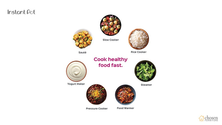 Instant Pot Duo Electric Pressure Cooker foods