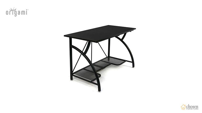 Origami Foldable Computer Desk Black side