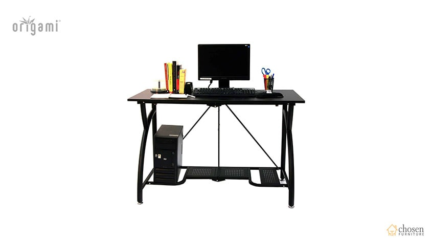 Origami Foldable Computer Desk Black