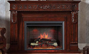 PuraFlame 33 Inch Electric Fireplace Insert front