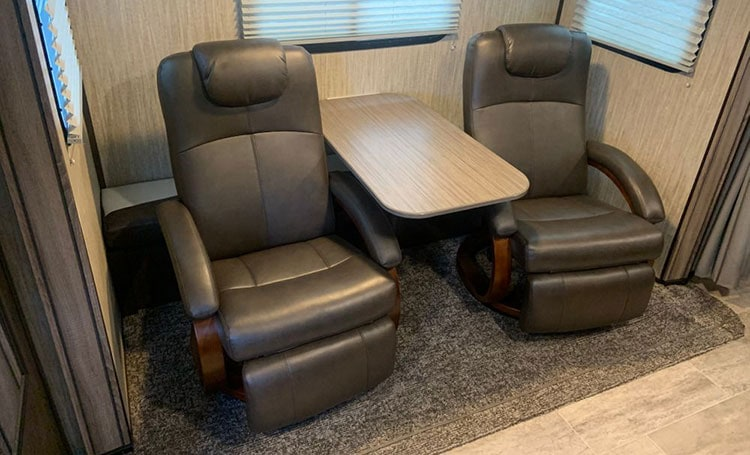 """RecPro Charles 28"""" RV Euro Chair Recliner front"""